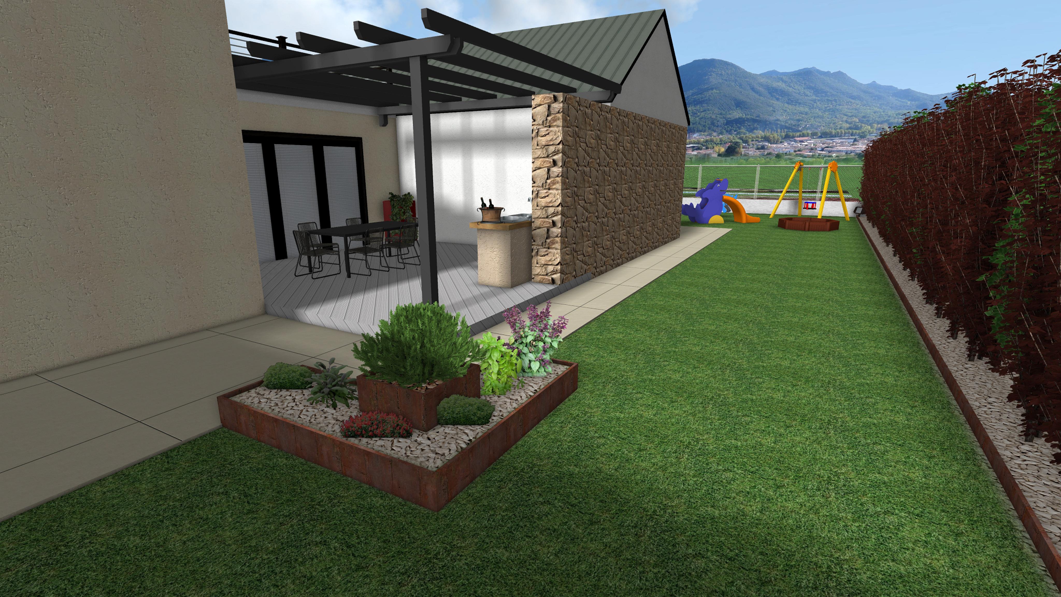 Progetto giardino 1 arkadia design - Progetto per giardino ...