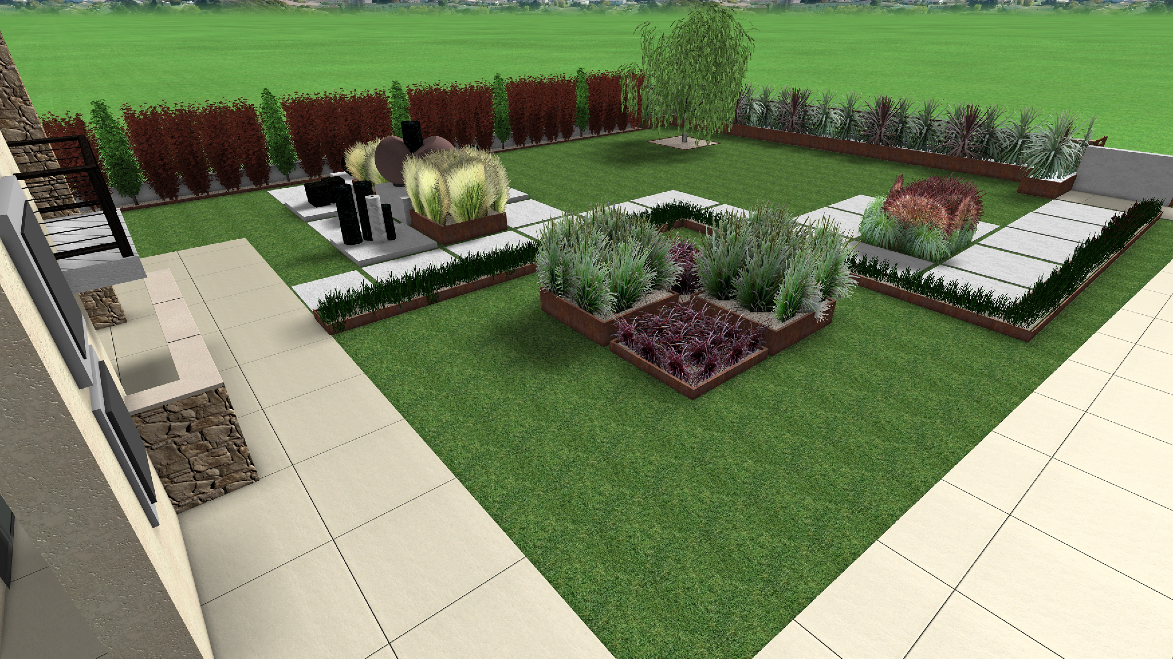 Progetto giardino 1 arkadia design for Giardino design